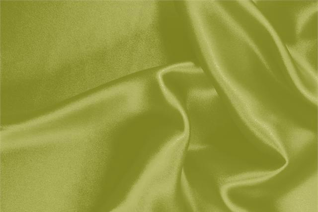 Buy online our clothing and fashion fabric 'Acido' Green Silk Crêpe Satin, Made in Italy. - new tess