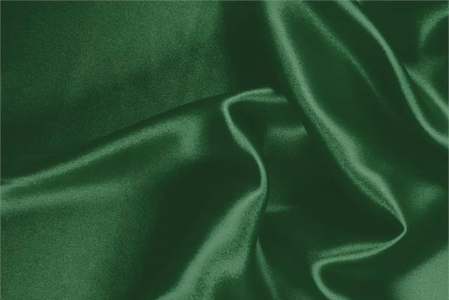 Buy online our clothing and fashion fabric 'Smeraldo' Green Silk Crêpe Satin, Made in Italy. - new tess
