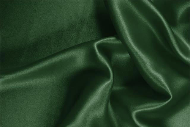 Buy online our clothing and fashion fabric 'Abete' Green Silk Crêpe Satin, Made in Italy. - new tess