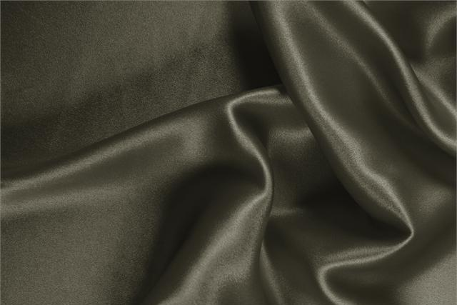 Buy online our clothing and fashion fabric 'Militare' Green Silk Crêpe Satin, Made in Italy. - new tess