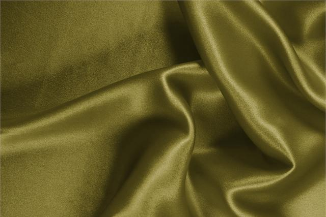 Buy online our clothing and fashion fabric 'Foglia' Green Silk Crêpe Satin, Made in Italy. - new tess