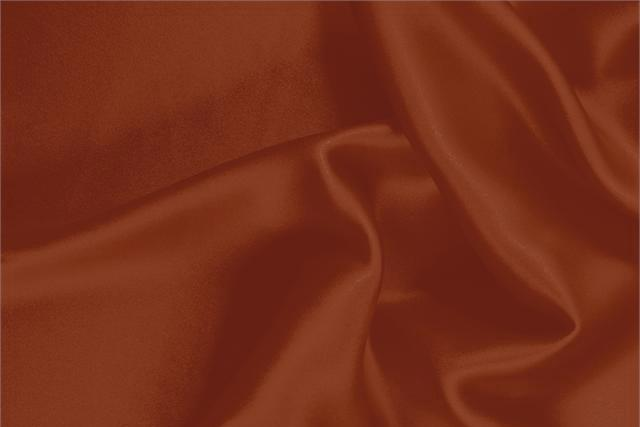 Buy online our clothing and fashion fabric 'Mattone' Brown Silk Crêpe Satin, Made in Italy. - new tess