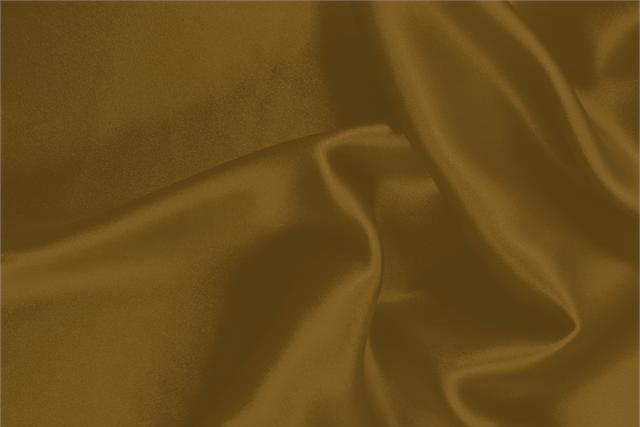 Buy online our clothing and fashion fabric 'Caramel' Brown Silk Crêpe Satin, Made in Italy. - new tess