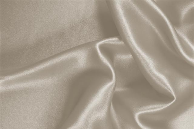 Buy online our clothing and fashion fabric 'Corda' Beige Silk Crêpe Satin, Made in Italy. - new tess