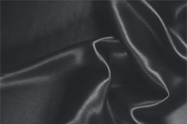 Buy online our clothing and fashion fabric 'Antracite' Gray Silk Crêpe Satin, Made in Italy. - new tess
