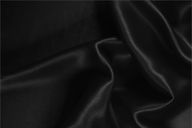 Buy online our clothing and fashion fabric Black  Silk Satin Stretch, Made in Italy. - new tess