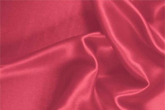 Buy online our clothing and fashion fabric 'Lampone' Pink  Silk Satin Stretch, Made in Italy. - new tess