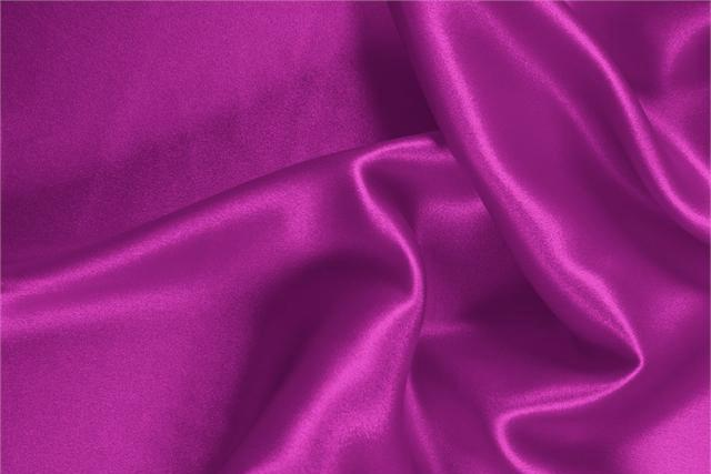 Buy online our clothing and fashion fabric 'Ciclamino' Fuxia  Silk Satin Stretch, Made in Italy. - new tess