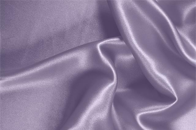 Buy online our clothing and fashion fabric 'Lavanda' Purple  Silk Satin Stretch, Made in Italy. - new tess