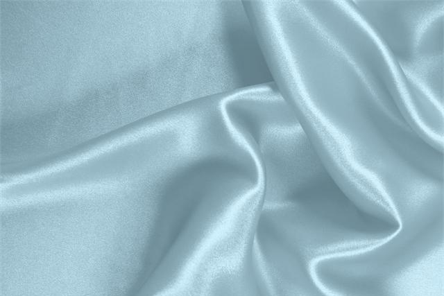 Buy online our clothing and fashion fabric 'Fonte' Blue  Silk Satin Stretch, Made in Italy. - new tess