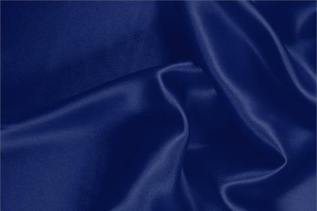 Buy online our clothing and fashion fabric 'Royale' Blue  Silk Satin Stretch, Made in Italy. - new tess