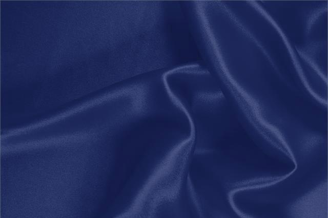 Buy online our clothing and fashion fabric 'Oltremare' Blue  Silk Satin Stretch, Made in Italy. - new tess