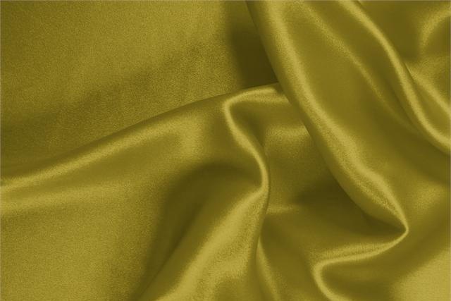 Buy online our clothing and fashion fabric 'Olio' Green  Silk Satin Stretch, Made in Italy. - new tess