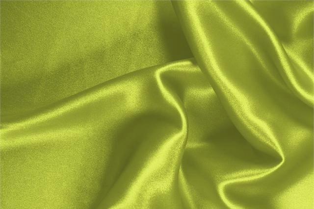 Buy online our clothing and fashion fabric 'Mela' Green  Silk Satin Stretch, Made in Italy. - new tess