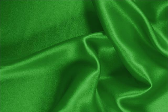 Buy online our clothing and fashion fabric Silk Satin Stretch Green Bandiera, Made in Italy. - new tess