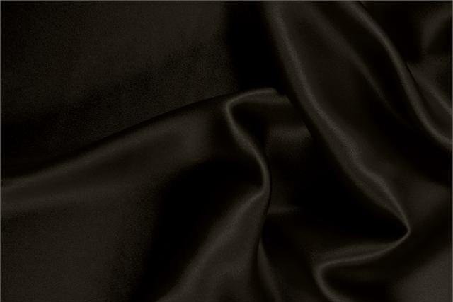 Buy online our clothing and fashion fabric 'Cioccolato' Brown  Silk Satin Stretch, Made in Italy. - new tess