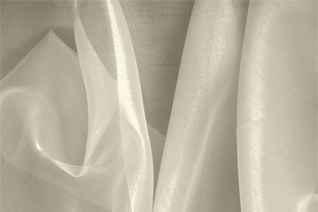 Buy online our clothing and fashion fabric 'Mela' White Silk Organza, Made in Italy. - new tess
