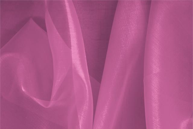 Acquista online il nostro tessuto per abbigliamento, sartoria e moda Organza Primula Fuxia. - new tess