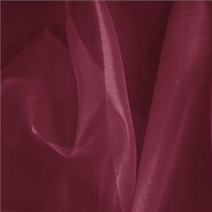 Vino Purple Silk Organza Primula Plain fabric for Ceremony Dress, Dress, Party dress, Shirt, Wedding dress.