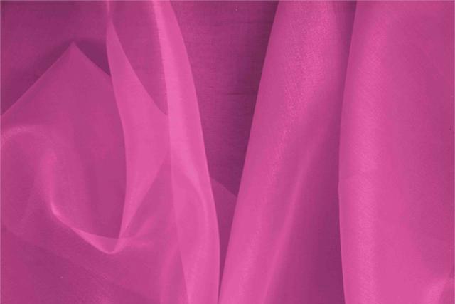 Achetez notre tissu pour habillement, haute couture et mode Organza Fuxia 'Azalea' en Soie, Made in Italy. - new tess