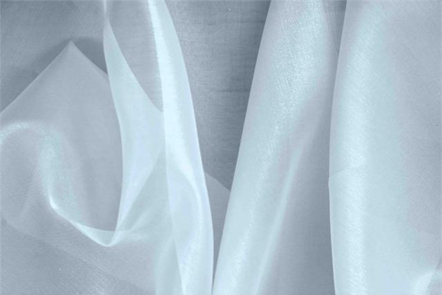 Cielo Blue Silk Organza fabric for dressmaking