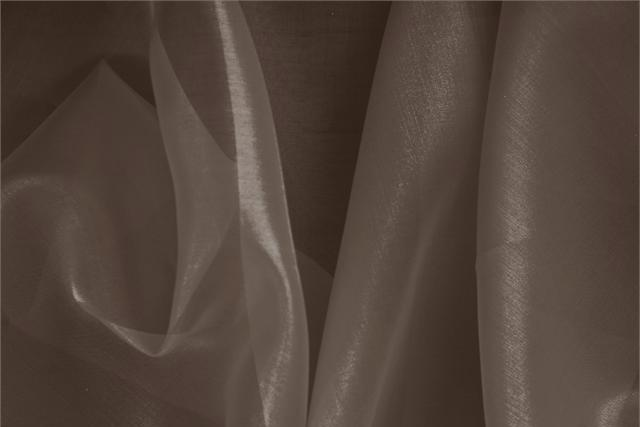 Silk Organza Fabric Brown Testa Di Moro