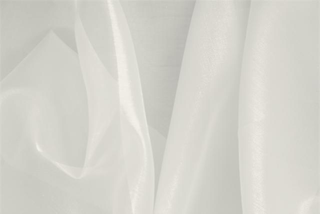 Buy online our clothing and fashion fabric 'Perla' Silver Silk Organza, Made in Italy. - new tess