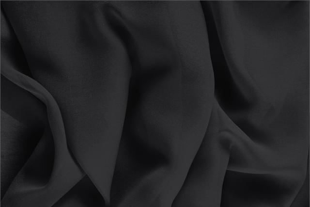 Buy online our clothing and fashion fabric Black Silk Georgette, Made in Italy. - new tess
