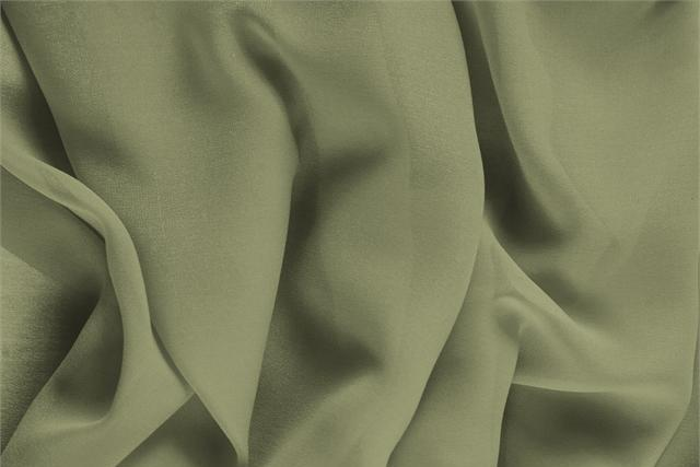 Buy online our clothing and fashion fabric 'Oliva' Green Silk Georgette, Made in Italy. - new tess
