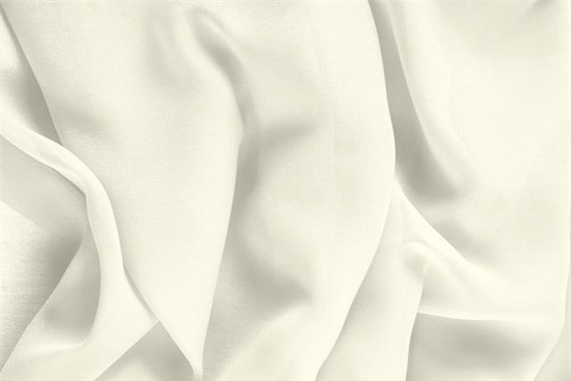 Avorio White Silk Georgette fabric for dressmaking