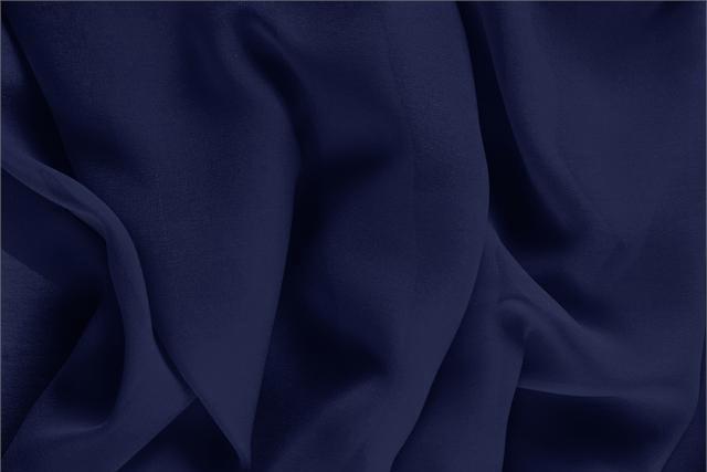 Achetez notre tissu pour habillement, haute couture et mode Georgette Bleu 'Marine' en Soie, Made in Italy. - new tess