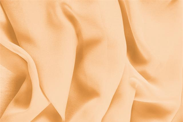 Buy online our clothing and fashion fabric 'Albicocca' Orange Silk Georgette, Made in Italy. - new tess
