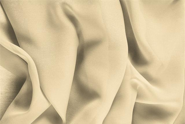 Buy online our clothing and fashion fabric 'Mandorla' Beige Silk Georgette, Made in Italy. - new tess