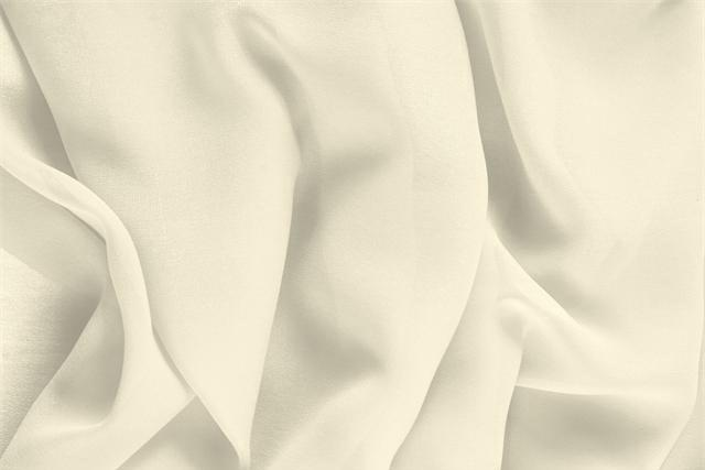 Buy online our clothing and fashion fabric 'Latte' White Silk Georgette, Made in Italy. - new tess