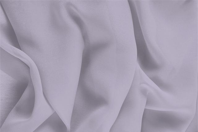 Buy online our clothing and fashion fabric 'Peltro' Silver Silk Georgette, Made in Italy. - new tess
