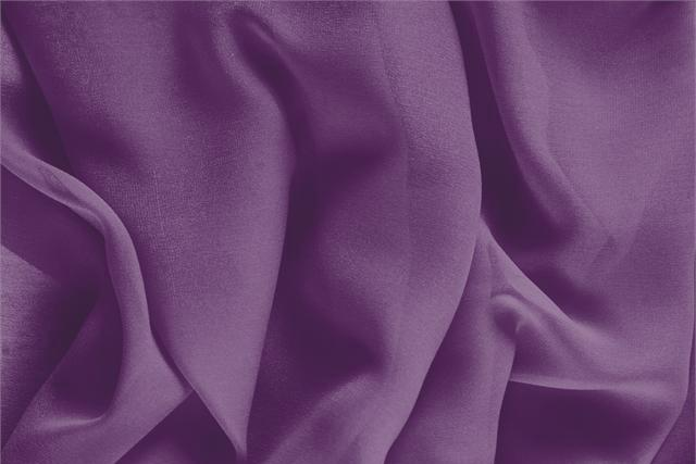 Buy online our clothing and fashion fabric 'Melanzana' Purple Silk Georgette, Made in Italy. - new tess