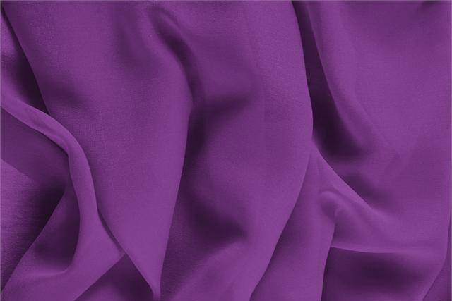 Buy online our clothing and fashion fabric 'Ametista' Purple Silk Georgette, Made in Italy. - new tess