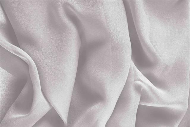 Buy online our clothing and fashion fabric 'Rugiada' Silver Silk Georgette, Made in Italy. - new tess