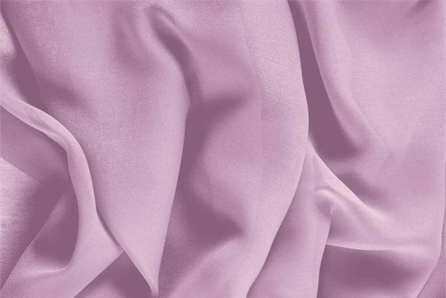 Tissu Georgette Rose Fata en Soie pour vêtements