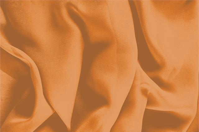 Buy online our clothing and fashion fabric Georgette Orange Caco, Made in Italy. - new tess