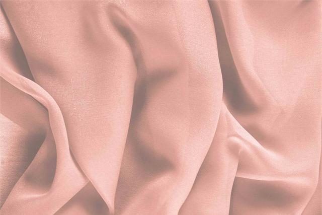 Buy online our clothing and fashion fabric 'Quarzo' Pink Silk Georgette, Made in Italy. - new tess
