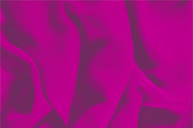 Buy online our clothing and fashion fabric 'Ciclamino' Fuxia Silk Georgette, Made in Italy. - new tess