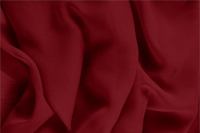 Buy online our clothing and fashion fabric 'Bordeaux' Purple Silk Georgette, Made in Italy. - new tess