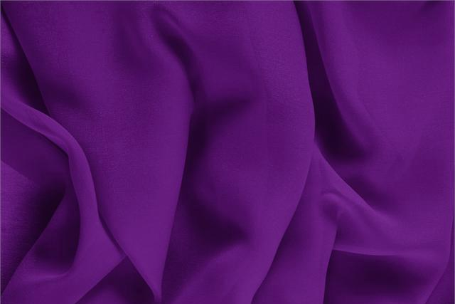 Buy online our clothing and fashion fabric 'Mirtillo' Purple Silk Georgette, Made in Italy. - new tess