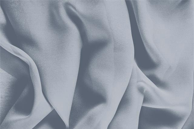 Buy online our clothing and fashion fabric 'Avio' Blue Silk Georgette, Made in Italy. - new tess