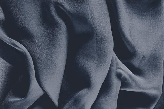 Buy online our clothing and fashion fabric 'Calabrone' Blue Silk Georgette, Made in Italy. - new tess