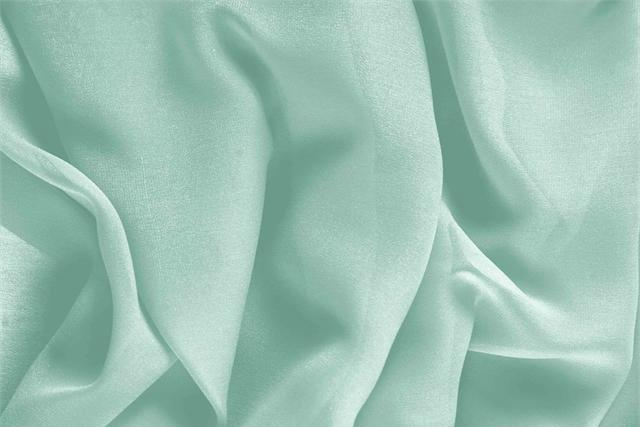 Achetez notre tissu pour habillement, haute couture et mode Georgette Vert 'Clorofilla' en Soie, Made in Italy. - new tess