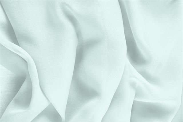 Buy online our clothing and fashion fabric 'Opale' Green Silk Georgette, Made in Italy. - new tess