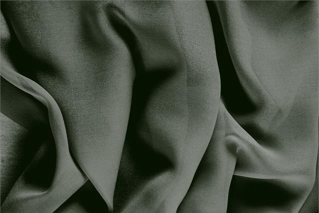 Buy online our clothing and fashion fabric 'Foresta' Green Silk Georgette, Made in Italy. - new tess