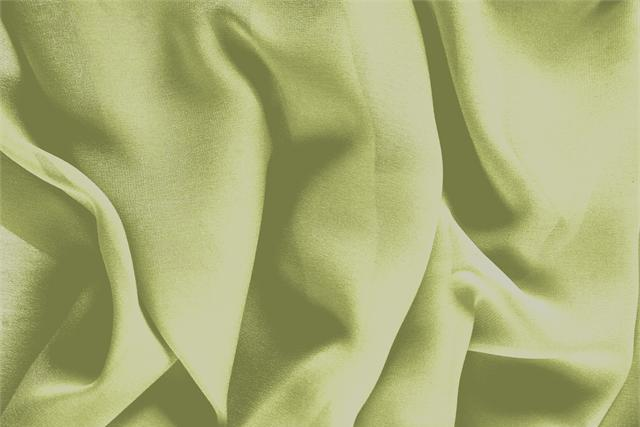 Buy online our clothing and fashion fabric 'Acido' Green Silk Georgette, Made in Italy. - new tess